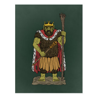 King Troll Postcard