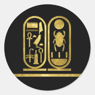 King Tut Cartouche Classic Round Sticker