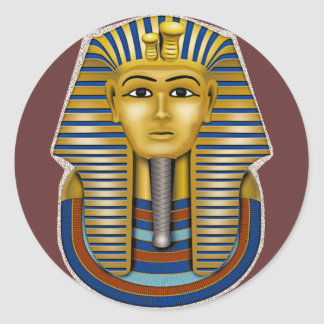 King Tut Mask Costume Tees n Stuff Round Sticker