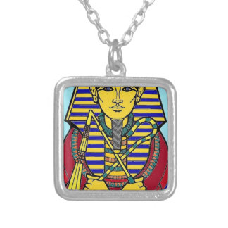 king tut silver plated necklace