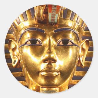 King Tutankhamun, Gold Mask Classic Round Sticker