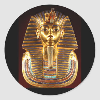 King Tutankhamun, Gold Mask Classic Round Sticker