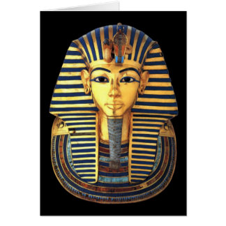 King Tutankhamun, Gold Mask, Egyptian Pharaoh Card