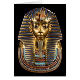 King Tutankhamun, Gold Mask, Egyptian Pharaoh Card