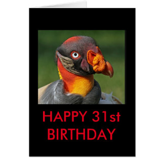 King Vulture - Happy 31st Card