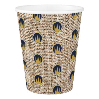 King Wild Thing Gold Crown Burlap Birthday Party Paper Cup