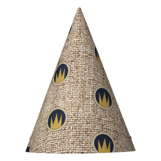 King Wild Thing Gold Crown Burlap Birthday Party Party Hat