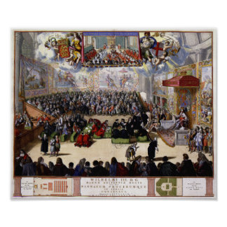 King William III and the House of Commons 1689 Poster