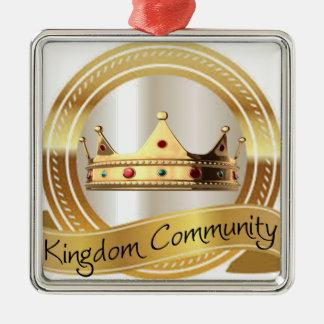 Kingdom Community Crown Metal Ornament