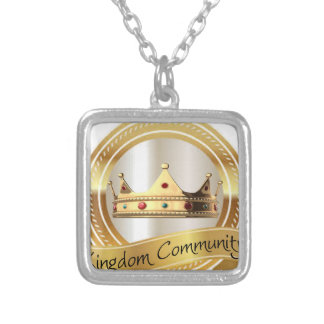 Kingdom Community Crown Silver Plated Necklace