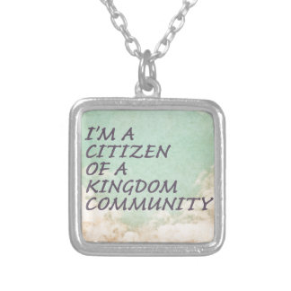 Kingdom Community Silver Plated Necklace