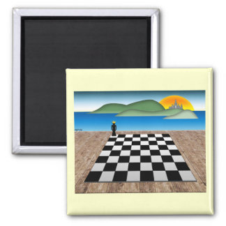 Kingdom of Chess Square Magnet