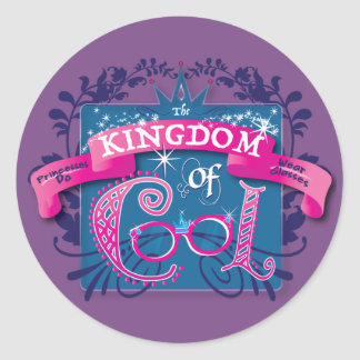 Kingdom of Cool Stickers- Sheet of 20! Classic Round Sticker