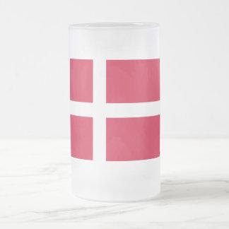 Kingdom of Denmark Flag Frosted Glass Beer Mug