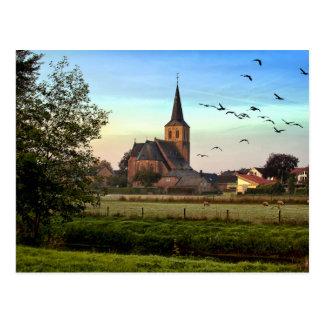 Kingdom of God Church Sunrise Landscape Postcard
