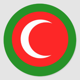 Kingdom of Kurdistan Flag (1922-1924, 1925) Classic Round Sticker