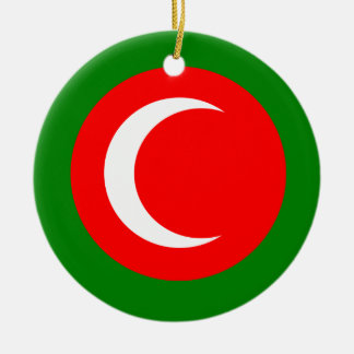 Kingdom of Kurdistan Flag (1922-1924, 1925) Round Ceramic Ornament