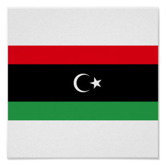 Kingdom of Libya Flag (1951-1969) Poster