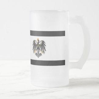 Kingdom of Prussia national flag Frosted Glass Beer Mug