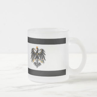Kingdom of Prussia national flag Frosted Glass Coffee Mug