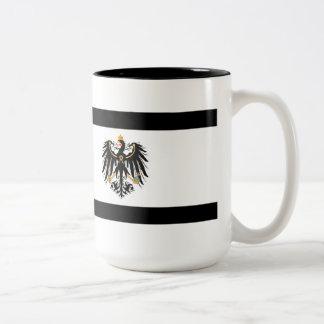Kingdom of Prussia national flag Two-Tone Coffee Mug