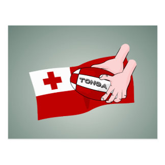 Kingdom of Tonga Tongan Rugby Ball Flag Postcard