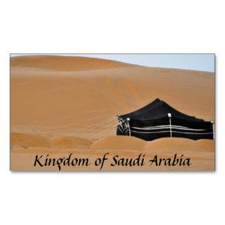 Kingdom Saudi Arabia Black Tent Magnet Small Magnetic Business Card