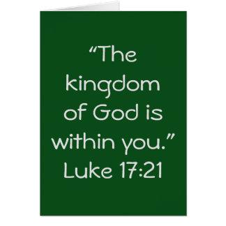 """Kingdom"" Scripture Greeting Card"