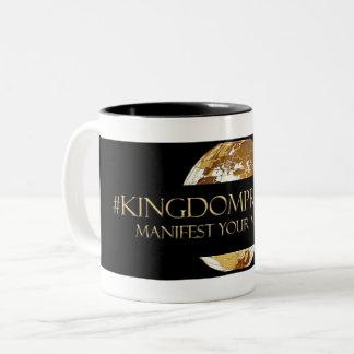 #KINGDOMPRENEUR -MANIFEST YOUR MILLIONS  TM Two-Tone COFFEE MUG