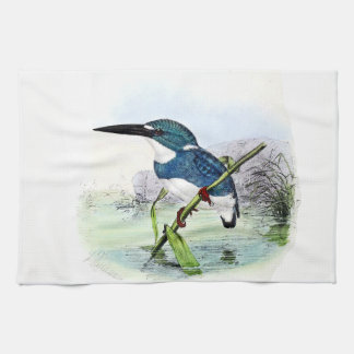 Kingfisher Bird Animal Wildlife Pond Kitchen Towel
