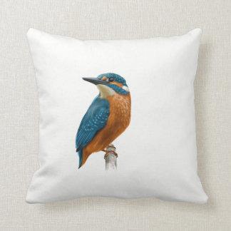 Kingfisher Bird Throw Pillow