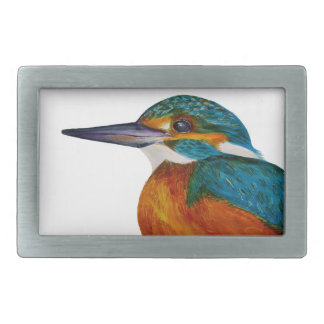 Kingfisher Bird Watercolor Halcyon Bird Belt Buckle