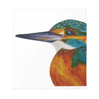 Kingfisher Bird Watercolor Halcyon Bird Notepad