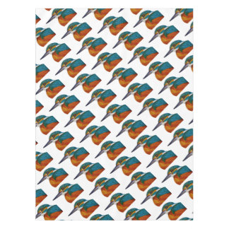 Kingfisher Bird Watercolor Halcyon Bird Tablecloth