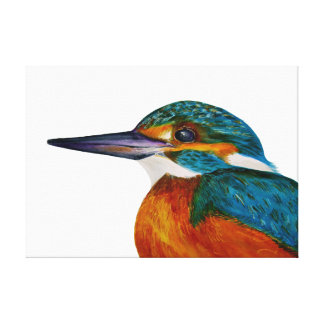 Kingfisher Bird Watercolour Painting Artwork Print
