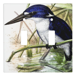 Kingfisher Bird Wildlife Art Light Switch Cover