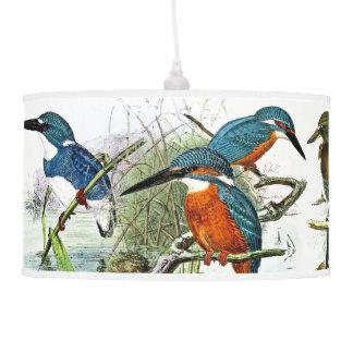 Kingfisher Birds Pond Wildlife Animal Hanging Lamp
