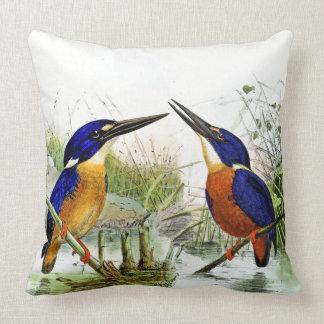 Kingfisher Birds Wildlife Animal Pond Throw Pillow