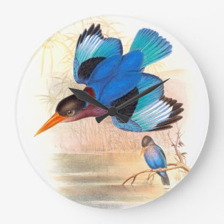 Kingfisher Birds Wildlife Animals Pond Wallclock