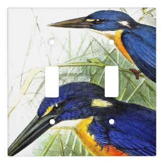 Kingfisher Birds Wildlife Art Light Switch Cover
