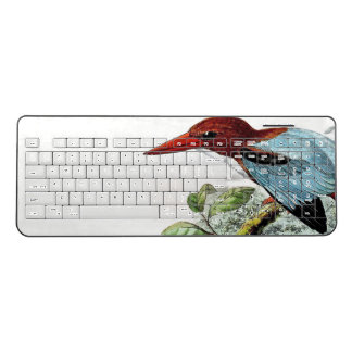 Kingfisher Birds Wildlife Pond Wireless Keyboard