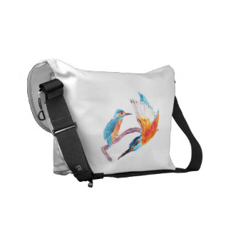 Kingfisher Colorful Bird Art Commuter Bags