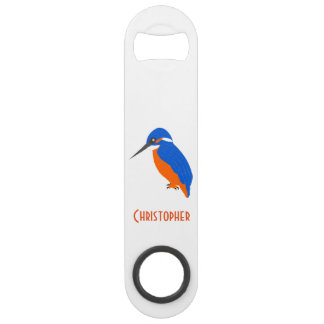 Kingfisher Design Just Add Name Speed Bottle Opener