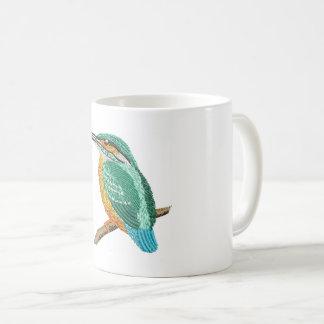 kingfisher embroidery imitation coffee mug