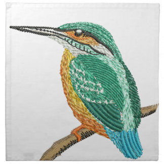 kingfisher embroidery imitation napkin
