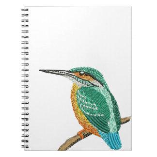 kingfisher embroidery imitation notebook