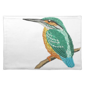 kingfisher embroidery imitation placemat