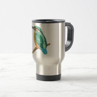 kingfisher embroidery imitation travel mug