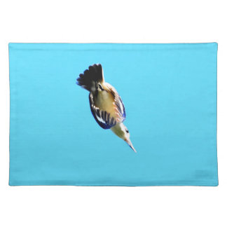 KINGFISHER IN FLIGHT QUEENSLAND AUSTRALIA PLACEMAT