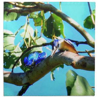 KINGFISHER IN TREE QUEENSLAND AUSTRALIA NAPKIN
